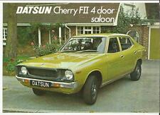 """DATSUN CHERRY FII 4 DOOR SALOON SALES BROCHURE """""""" / tavola 1976 1977"""