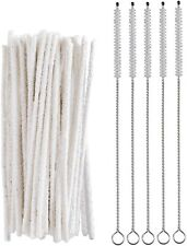 50 Super Absorbent Pipe Cleaners & 5 Shank Cleaning Brushes Tobacco Pipe - 2551