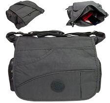 Bag Street leichte Nylon Schultertasche Umhängetasche Sportliche Crossover Grau
