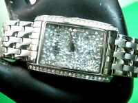 BULOVA CARAVELLE 43L161 CASUAL WATCH S/S & CRYSTALS ACCENT SILVER DIAL /ANALOG
