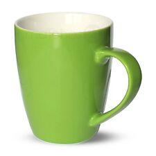 Tasse Becher Kaffeebecher farbig grün Porzellan 6 Stk. 10 cm / 350 ml