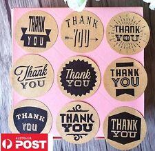 45 X Thank You Stickers Retro Vintage Round DIY Engagement Wedding Craft
