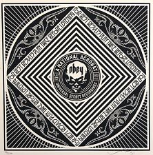 SHEPARD FAIREY hand signiert RECORD 50 SHADES OF BLACK ed/200 2013 obey giant
