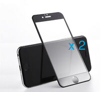 2 x Panzerglas für iPhone 6 6s 7 Full Cover 3D Folie Schutzglas 9H schwarz