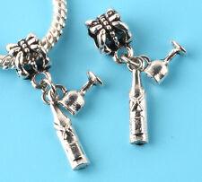 2pcs Tibetan silver Cup of wine Charm bead fit European Bracelet Pendant A#155