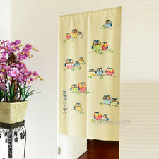 New Owl Family Pattern Japanese Noren Door Long Curtain Room Doorway Tapestry