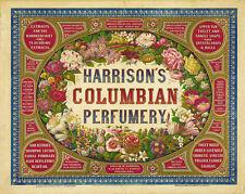 HARRISON'S COLUMBIAN PERFUMERY ADVERTISING POSTER
