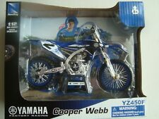 NEW MINIATURE MOTO CROSS YAMAHA YZ 450 F 1/12  COOPER WEBB NMR 2 NEUF NEW RAY
