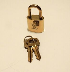 Pre-Owned Louis Vuitton Last Gen Brass Lock Design #300 Complete with Both Keys