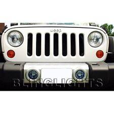 2007-2014 Jeep Wrangler JK Xenon Halogen Front Bumper Fog Lamp Driving Light Kit