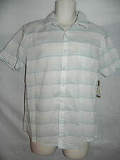 Vintage Red Button Front Shirt Medium Birch Striped Mens NWD $49