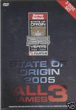 NRL - State Of Origin: 2005 - All 3 Games (3 DVD Set)