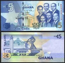 GHANA 5 Cedis 2010 UNC  Pick new