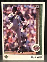 1989 Upper Deck Frank Viola Baseball Card Minnesota Twins Mint #397 Legend Mets