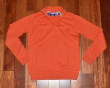 Très beau pull fin chaud orange OKAIDI 12 ans garçon TTBE