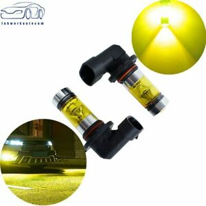 2pcs 100W LED 9145 H10 4300K YELLOW Projector Fog Light Bulbs US