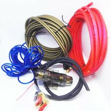60AMP 10GA Copper  Car Audio Subwoofer Amplifier Kit Power Installation Cable
