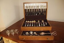 Vintage Gorham Chantilly Sterling Silver 96 piece set Pat 1895