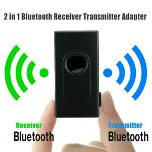 2 in 1 BT5.0 Transmitter Receiver Adapter Wireless Audio 3.5mm Jack Aux Adapter