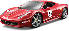 Ferrari 458 Challenge #5 Rojo Escala 1:24 de Bburago
