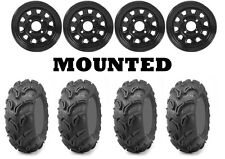 Kit 4 Maxxis Zilla Tires 26x9-12/26x11-12 on ITP Delta Steel Black Wheels IRS