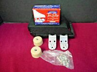CHICAGO ROLLER SKATE CO. TOE STOP FOR TRUCK MOUNTING WITH REPLACEABLE RUBBER No