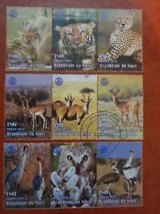 Niger - 1995 - rotary international African animals - 9 stamp set - CTO