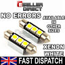 INTERIOR /  BOOT LED BULBS FESTOON 239 38MM 39MM 41MM CANBUS BULB IN PURE WHITE