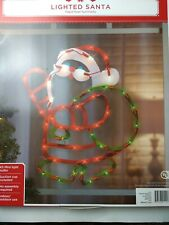 Lighted Santa Claus Christmas Window Silhouette Decoration out/in door