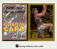 1994 Dynamic AFL Players Choice Series Signature Card PC5 Tony Modra+Redemption
