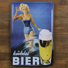 Kuhles German Beer KÜHLES BIER Metal Tin Sign Bar pub Brewery Tavern Decor Ad