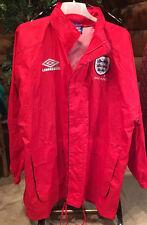 MINT Hooded Jacket England  Men XL Hooded Umbro Red Rain Coat