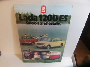 Lada 1200 ES Saloon and Estate c1977 double-sided card / brochure