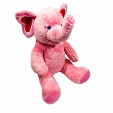 Build A Bear Pink Elephant With Hearts Plush Stuffed Animal Toy 14""