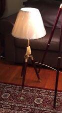 NEW RALPH LAUREN ADJUSTABLE WOOD&BRASS TRIPOD TABLE/DESK LAMP SIGNED SCARCE NWT