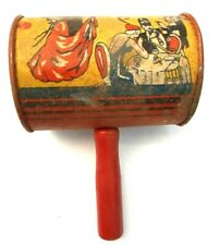 Vintage Dancing Girl - New Years Eve Party NOISE MAKER Gavel Metal Toy