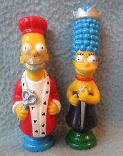 King & Queen Homer Marge Simpson Pvc Figures, The Simpsons, Chess Piece