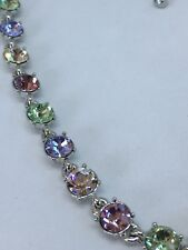 Givenchy Silver-Tone Crystal Collar Necklace, 16 + 3 extender - Silver NWT $98