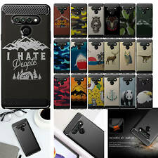 Case For [LG K51/ Q51/ Reflect][Flex TPU Fiber SET5] Matte Black Flexible