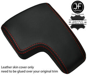 RED STITCHING TOP GRAIN LEATHER ARMREST LID COVER FITS ALFA ROMEO 159 05-11