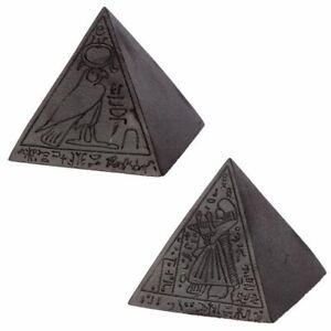 Decorative Black Egyptian Hieroglyphics Pyramid Art Ornament Sculpture Decor