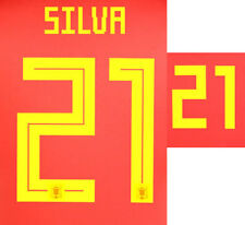 SILVA 21 - 2018 WORLD CUP NAME BLOCK FOR SPAIN HOME = ADULT SIZE
