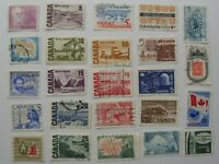 115 Different Used Canada Stamps Fine To Very Fine No Damage