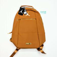 Air Jordan Jumpman Suede Leather Backpack Laptop Bag Tan 9A0227-X3N NWT