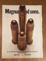 1970 Magnum And Sons Super X 22s Winchester Bullets Vintage Advertising Print