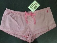 NWT Juicy Couture New & Gen. Ladies Small UK 8/10 Striped Cotton Sleep Shorts
