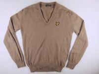 J469 Scotland LYLE & SCOTT vintage new wool jumper sweater size L, hardly worn!