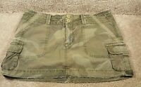Gently Used Women's American Eagle Outfitters Skirt Army Camo Waist Size 6