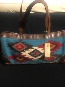 EL PASO Saddle Blanket Company Southwestern Wool Purse Large Boho Aztec Tote Bag