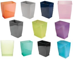 Trash Waste Can Modern Bedroom Bath Office Basket Litter Garbage Bin 12 Colors